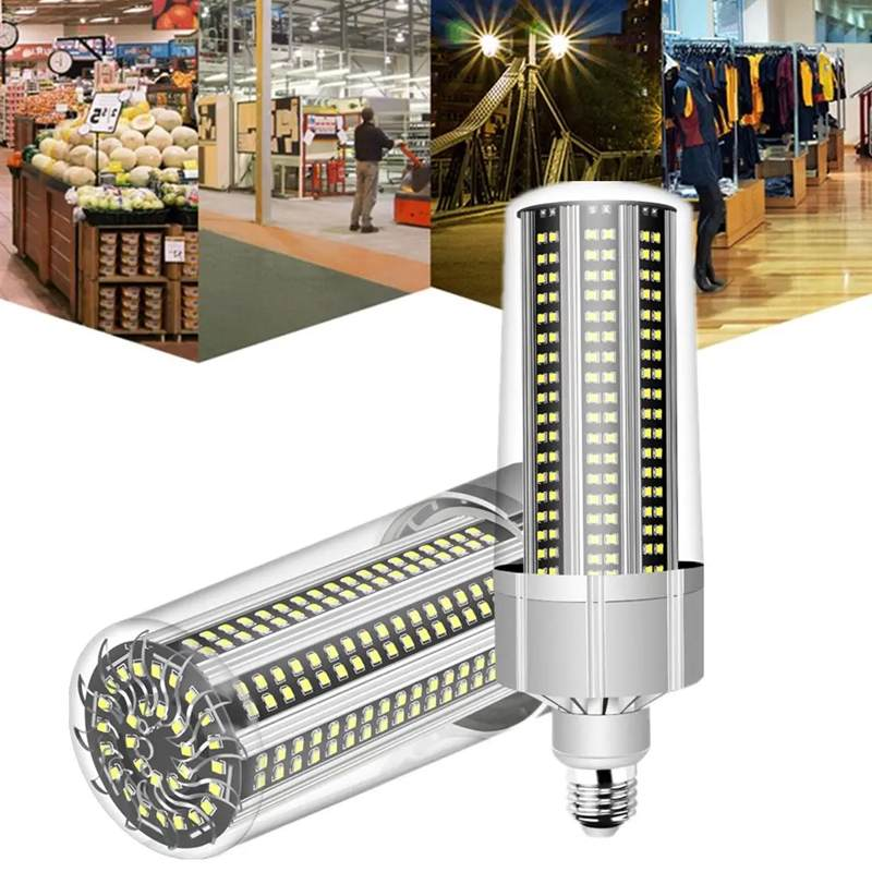AC100 277V E27 100W No Strobe Fan Cooling Camping Home Garden 366 LED Corn Light Bulb Garden Street Light High Bay Lighting|LED Bulbs & Tubes| |  - title=