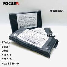 150um edge Original OCA colle optique autocollant adhésif transparent pour Samsung S8 S8 + S9 S9 + S10 S10 + S20 S20 + Film autocollant de téléphone portable