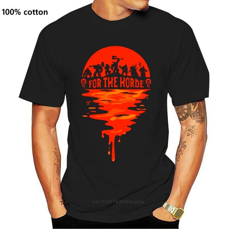 World_Of_Warcraftes для The Horde футболка Винтаж размера плюс 5xl Crazy по индивидуальному заказу летняя футболка здания крутая рубашка