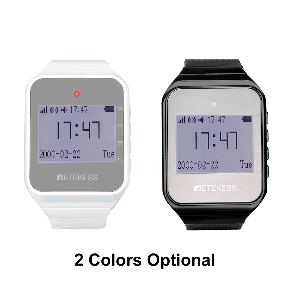 Image 2 - Retekess 2pcs TD108 Wireless Watch Receiver 433MHz Multi Language  Pager Waiter Calling System Restaurant Pager Customer ServicePagers