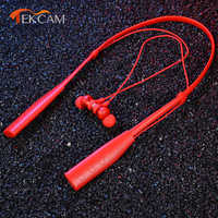 TWS Wireless Neckband Headphone HD HiFi Music Earbud Headset Pluggable Card MP3 Player Sports Fitness Earphones for mobile phone