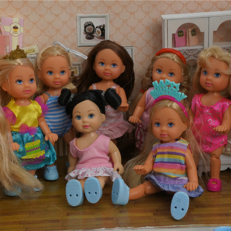 Original 5 Joint Germany Simba Doll Including The Clothes 11cm Similar Kelly Doll Small Dolls / Baby Toys For Children