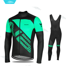 цена на Pro Team Long Sleeve Cycling Jersey Set 2019 Riding Wear Men MTB Clothing Breathable Bicycle Clothes Bib Pants Kit Ropa Ciclismo