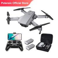 Drone D25 con telecamera 4K facile da volare FPV pieghevole RC Quadcopter posizionamento del flusso ottico modalità senza testa percorso volo 3D lancia Dron