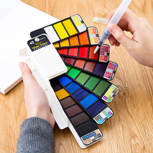 Watercolor-Paint-Set Pigment Draw Travel Superior Solid with Foldable for 18/25/33/42