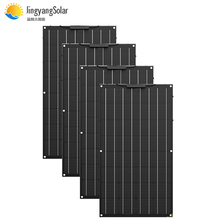 400W ETFE flexible solar panel 4pcs of 100w panel solar Monocrystaline solar cell 12v solar charger for home/car/boat 200w 300w