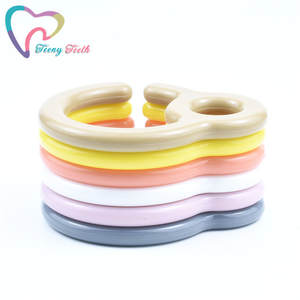 Ring-Links Pacifier-Hook Cart-Accessories Stroller-Toys Dummy-Clips Baby Plastic
