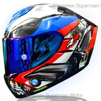 Full Face Motorcycle helmet X14 BM-Ww blue COLOR Helmet Riding Motocross Racing Motobike Helmet
