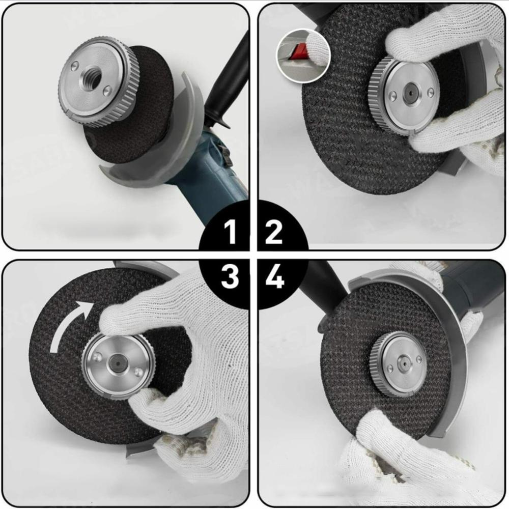 M14 Thread 115mm/125mm Angle Grinder Inner Outer Flange Nut Set Tools Power Replacement For Bosch Metabo Makita