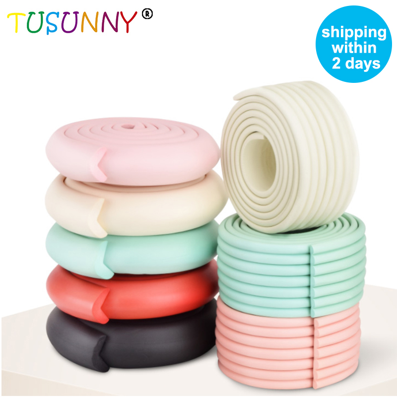 TUSUNNY 4M Children Protection Table Guard Strip Baby Safety Products Glass Edge Furniture Horror Crash Bar Corner Foam Bumper