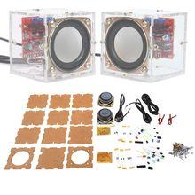 Mini 3W głośnik DIY Kit z przezroczysta powłoka dźwięk komputerowy elementy elektroniczne Dropship