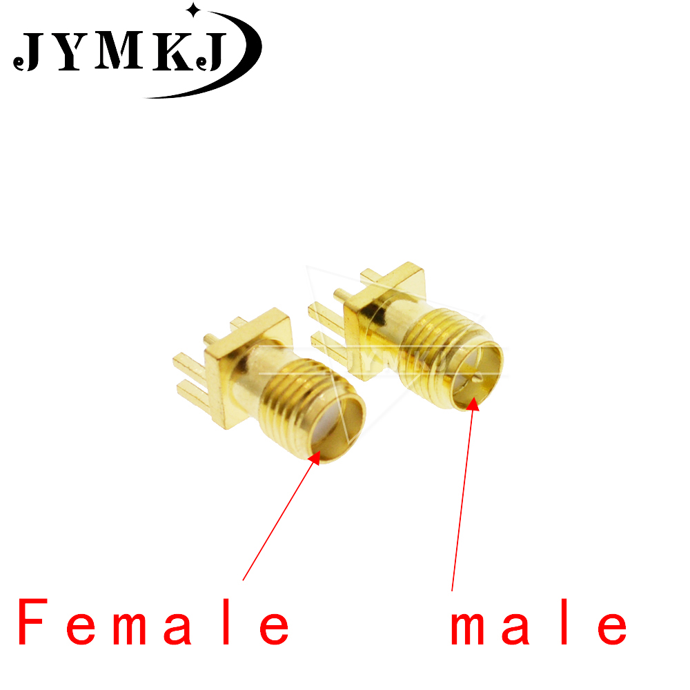10Pcs 1.6mm SMA Female Jack Solder Nut Edge PCB ( SMA-KHD ) Clip Straight Mount Gold Plated RF Connector Receptacle Solder