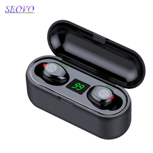 Seovo 2000 mAh bluetooth earphone charger power bank digital display 8D stereo waterproof airdots pro touch earbuds with mic