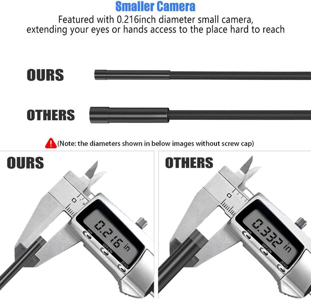 KZYEE 5M WIFI Drahtlose Unterwasser Kamera für Android und IOS 5,5mm Objektiv Abwasser Kammer Semi-starre Wasserdicht endoskop Kamera
