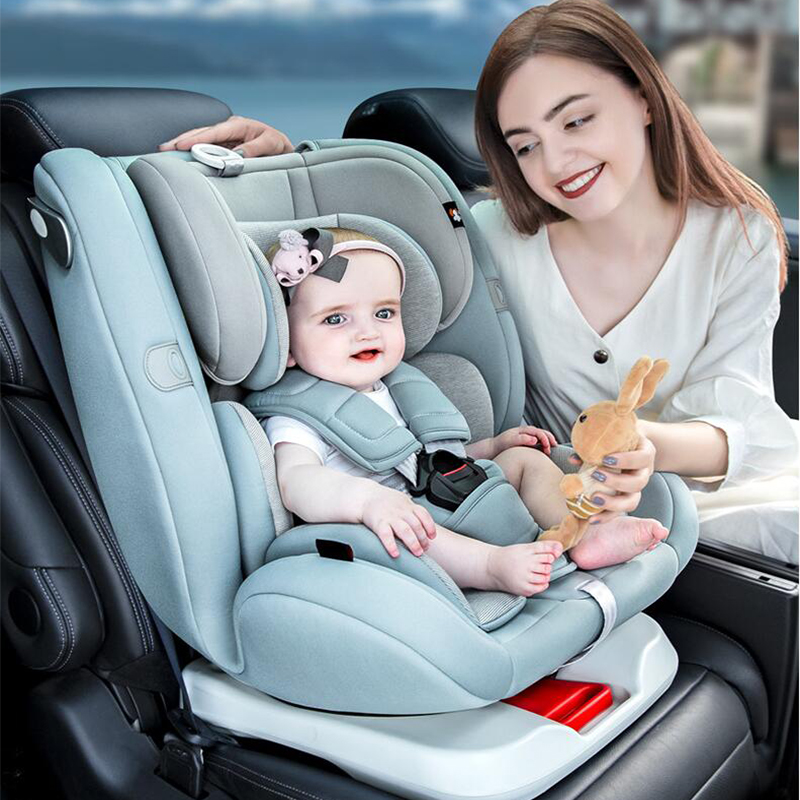 Children Baby Car Safety Seat 6M-12Y Sleepable reclining universal seat 360 degree rotation Two-way installation Child Chair