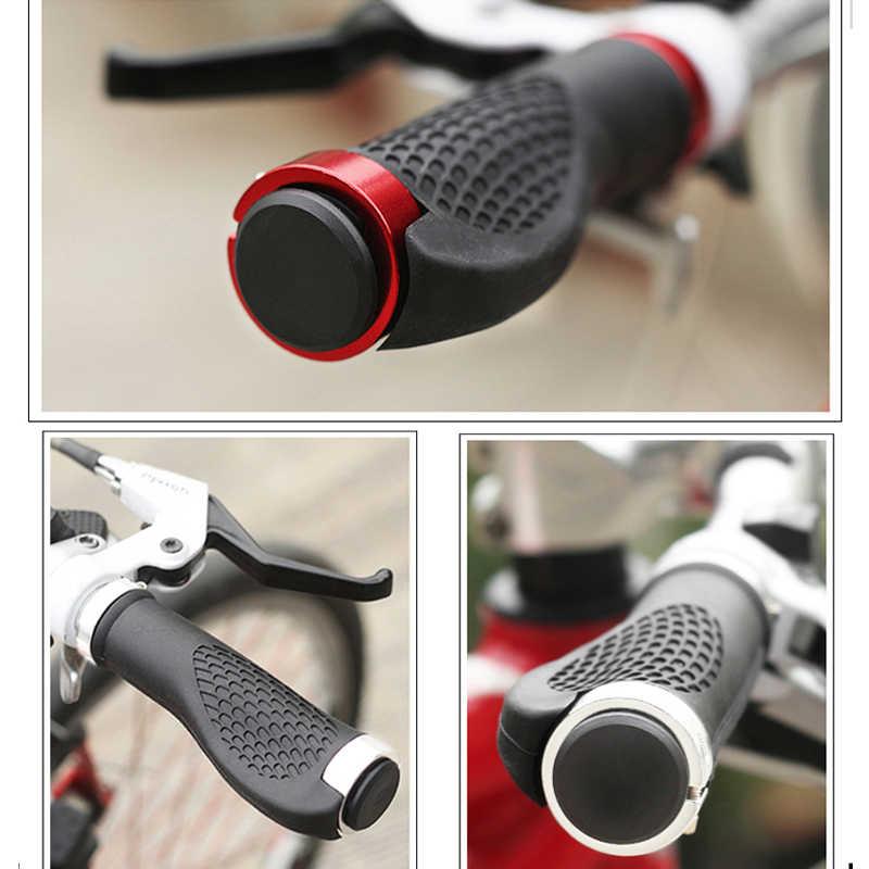 MTB Cycling Bike Handlebar Grips Lock-On Ergonomics End Plugs 138mm Anti-Slip