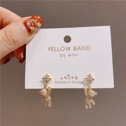 Fashion Sweet Simple Earrings Party Bohemian Earrings For Women Statement Trendy Crystal Star Women Dangle Earrings