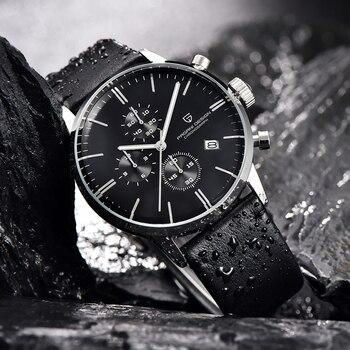 PAGANI DESIGN New Top Brand Luxury Mens Watches Waterproof Quartz Watch Genuine Leather Japanese VK67 Movement Relogio Masculino