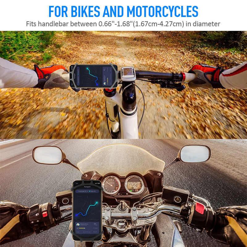 Uniwersalny uchwyt na telefon rowerowy dla IPhone 7 XS Max Samsung Xiaomi 9 motocykl uchwyt na telefon komórkowy kierownica rowerowa wspornik stojakowy
