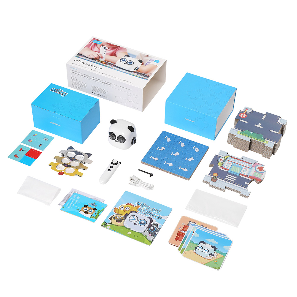 Makeblock mTiny Coding Robot Kit, early children education robot Smart Robot Toy for Kids Aged 4+, 6