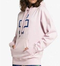 Hoodies Frauen Herbst Kleidung Baumwolle Brief Samt Dicke Warme Sweatshirt Damen Mit Kapuze Hoody Französisch Stil Womans Kleidung