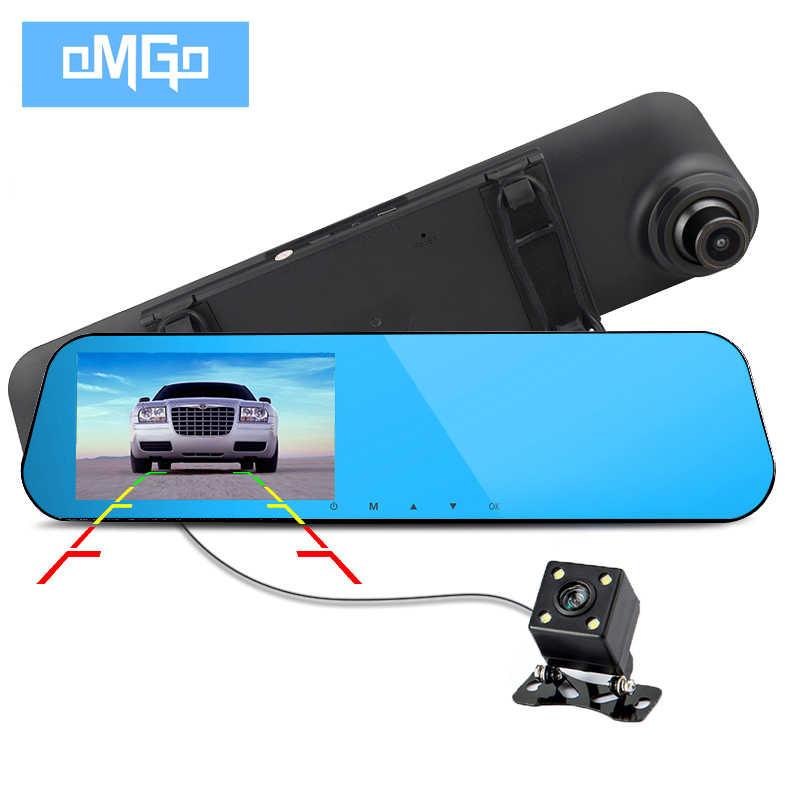 Tam hd1080p çift lensli araba kamera oto dvr araba DVR dikiz aynası kaydedici video registrator gece görüşlü araç kamerası kamera