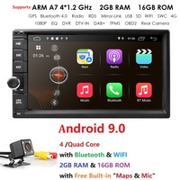 Android 9.0 7 inch Double Din Universal Car Radio GPS Multimedia Unit Player For TOYOTA Nissan Kia RAV4 Honda Hyundai