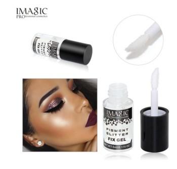 IMAGIC Makeup Fix Gel Glitter Eyeshadow Shimmer Pigment sypki proszek płynny klej wodoodporny trwały błyszczący cień do powiek tanie i dobre opinie Base Wodoodporna wodoodporny Rozjaśnić Inne Naturalne Długotrwała Łatwe do noszenia 5ml 0 175 OZ W pełnym rozmiarze