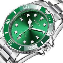 Men Fashion Green Watch Men Luxury Brand Rolex_Watch Quartz Sports Clock Male Stainless Steel Waterproof Wristwatches Gift Watch цена в Москве и Питере