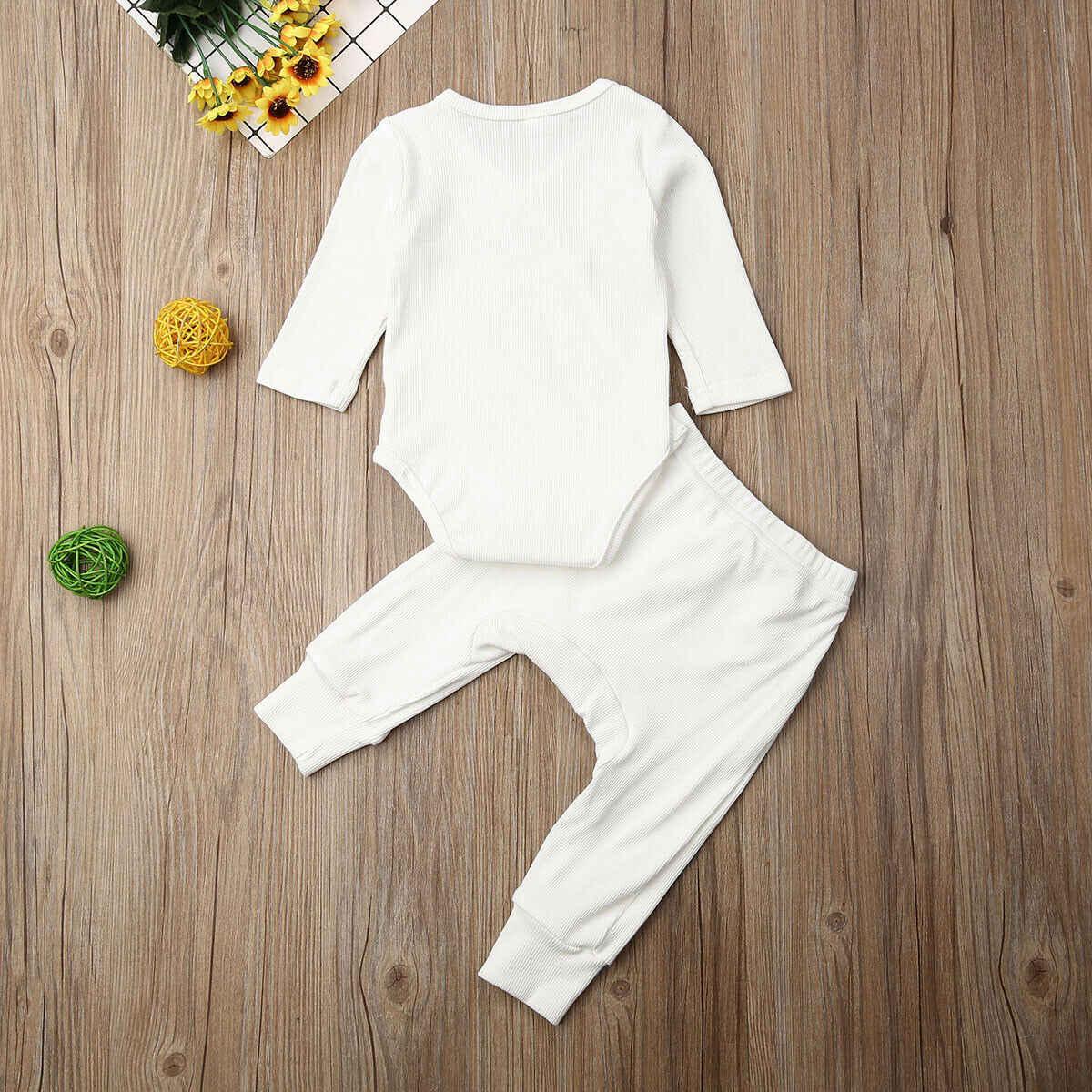 2019 Baby Frühling Herbst Kleidung Infant Infant Baby Junge Mädchen Kleidung Winter Langarm Tops Hosen Outfits 2Pcs Sets trainingsanzüge