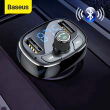 Ładowarka samochodowa Baseus nadajnik FM Aux Modulator zestaw głośnomówiący Bluetooth samochodowy sprzęt Audio MP3 odtwarzacz 3.4A szybki podwójny telefon komórkowy z USB ładowarka
