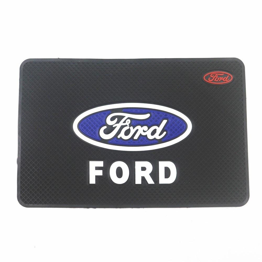 Автомобильный нескользящий коврик с логотипом, нескользящий коврик для телефона, нескользящий коврик для Ford Focus 2 3 Mondeo Ecosport Kuga Mk4 Fiesta Mustang