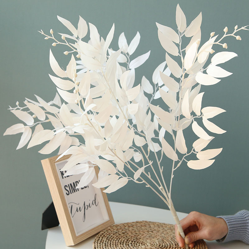 60cm 5 Fork 3 Color Bundle Willow For Wedding Decoration Fake Flowers Home Decor DIY Wreath Gift Box Scrapbooking