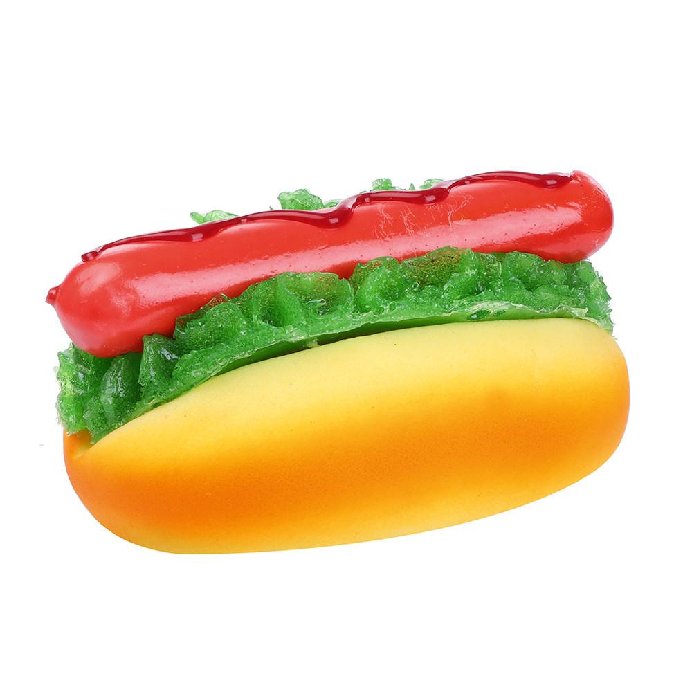 Fridge Magnet Hot Dog Bread Kitchen And Dining Table Display Toy Slow Rising Squeeze Scented Stress Relieve Toy #B