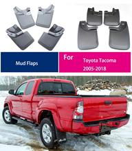 цены For TOYOTA tacoma 2005-2018 mud guards car Mud Flaps Fender splash guard tacoma mudguards Tacoma mud flap 4PCS