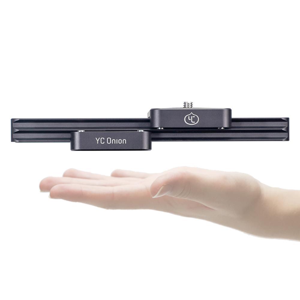 YC oignon chocolat curseur Mini manuel Portable DSLR Dolly caméra curseur 9 ''/23cm hydraulique amortissement curseur pour le tir vidéo