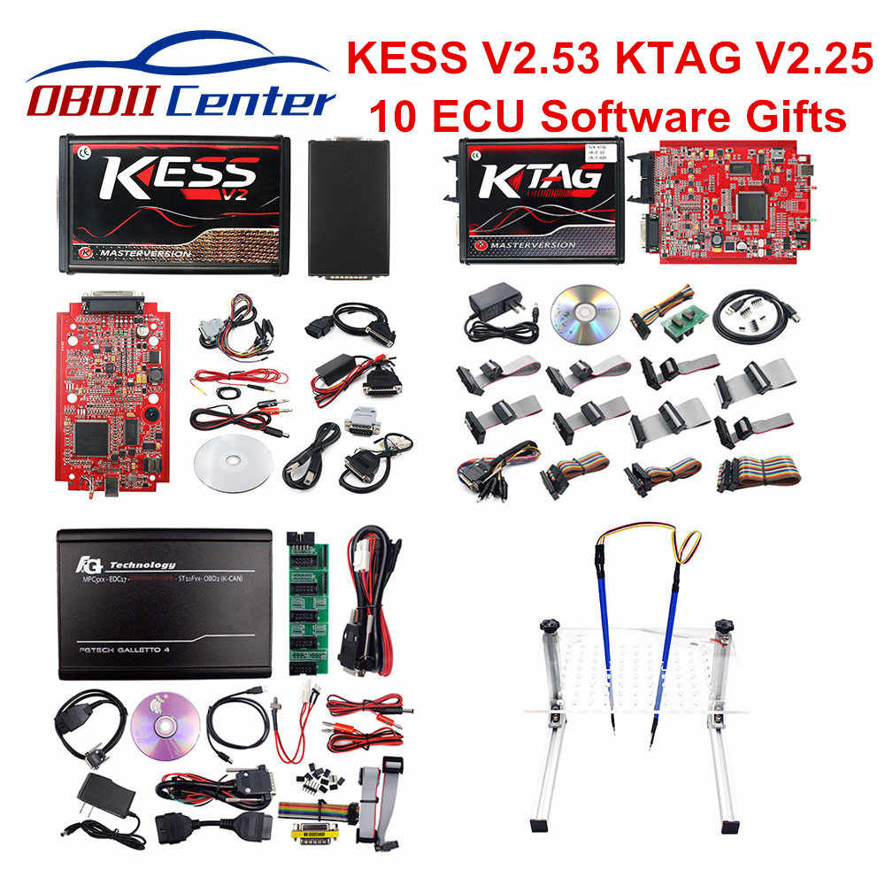 كامل KESS V2 5.017 V2.47 V2.53 KTAG 7.020 V2.25 BDM إطار LED محول KESS V5.017 K-tag K TAG V7.020 Galletto 4 FGTECH 0475