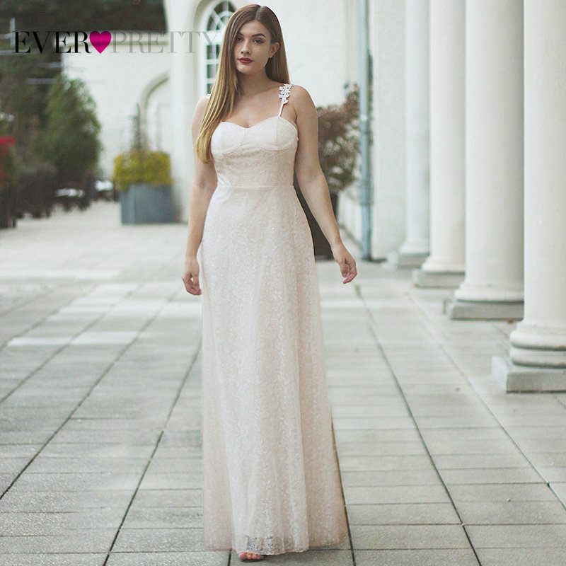 Elegant Wedding Dresses Long Ever Pretty Sweetheart Sleeveless Cream Sexy Formal Wedding Marriage Dresses 07835 Robes De Mariee
