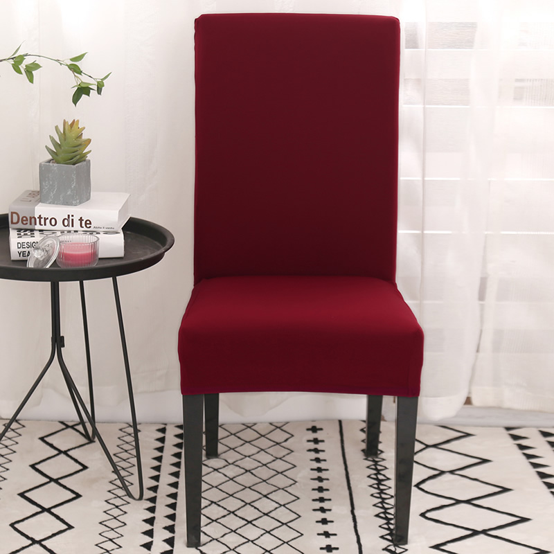 Katı renkler sandalye örtüsü ucuz büyük elastik koltuk sandalye Slipcovers streç sandalye örtüsü ziyafet otel parti dekorasyon