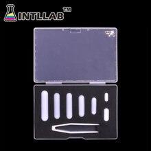Intllab agitador magnético, barras de agitador magnético, tamanho misto, ptfe, 7 peças