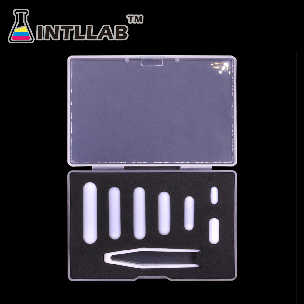 INTLLAB Magnetic Stirrer Bar Mixed Size PTFE Magnetic Stirrer Mixer Stir Bars