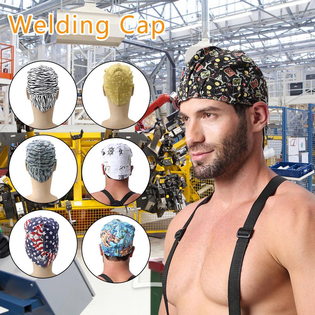 Cotton Welding Cap Hat Sweat Absorption Welders Retardant Helmet Adjustable Application To Welding Safety Protective Helmet