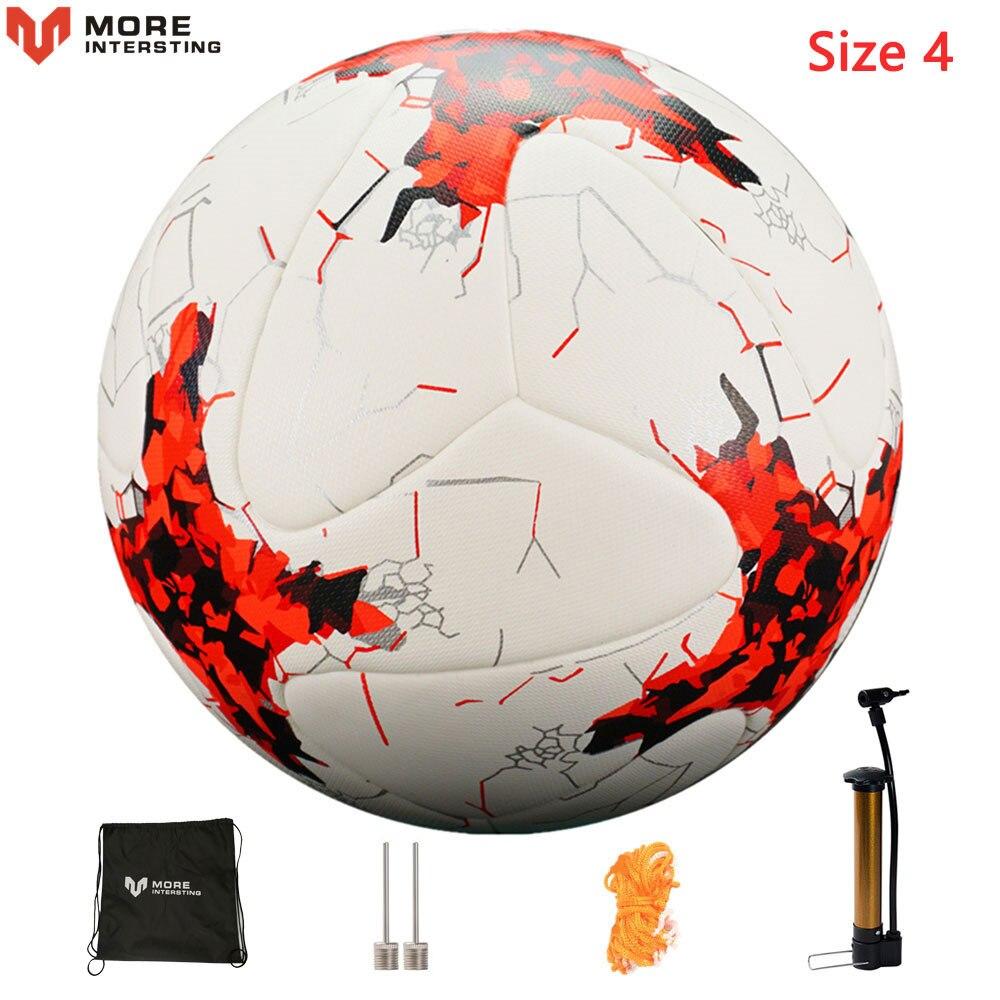 Russia Professional Size 4 Size 5 Football Premier PU Seamless Soccer Ball Goal Team Match Training Balls League futbol bola 13