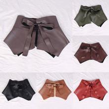 Твердые Цвет ультра широкий пояс для женщин юбка поясом баской