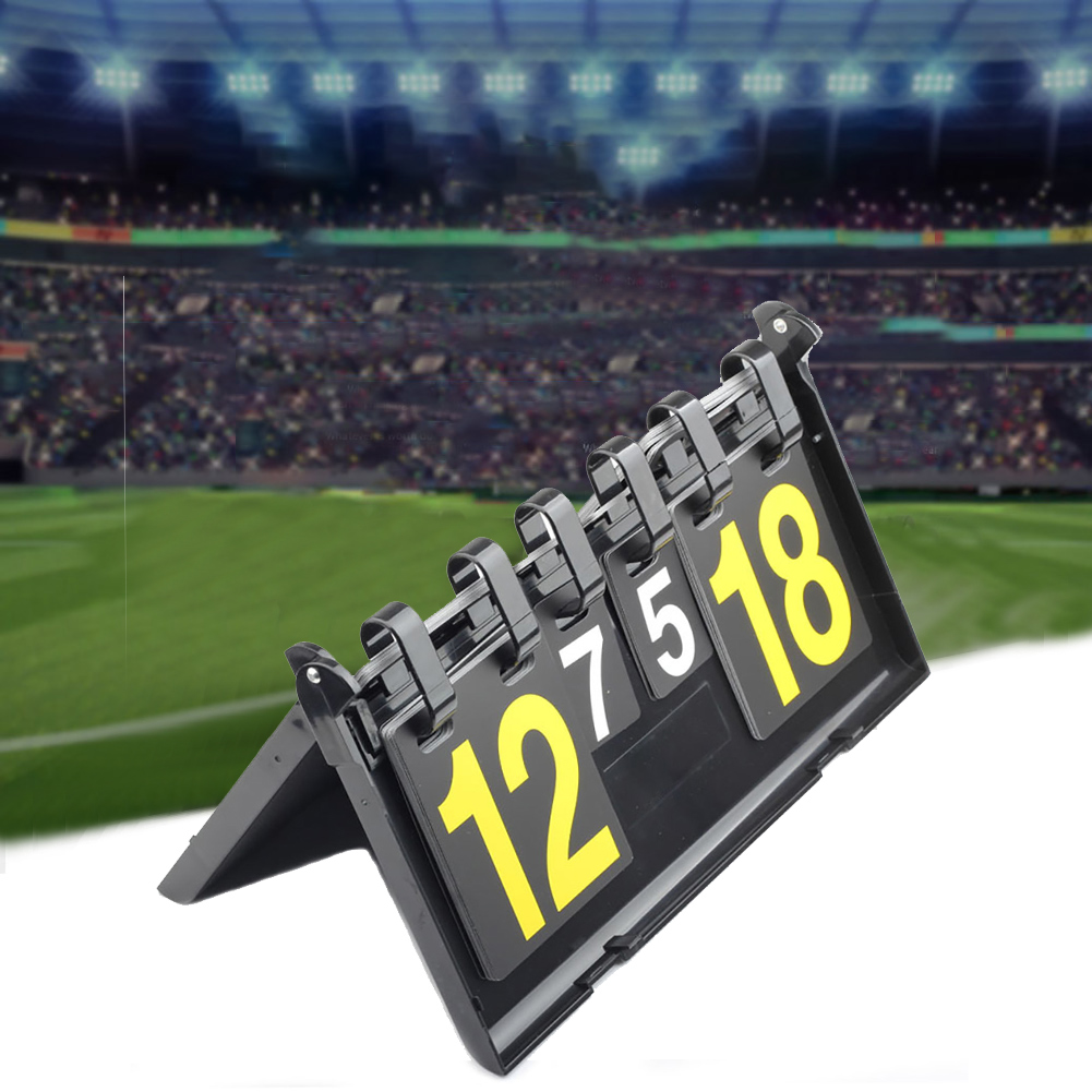 Scoreboard Table Tennis Flipping 4 Digit Portable Basketball Volleyball PVC Competitions Football Badminton Counter Professional