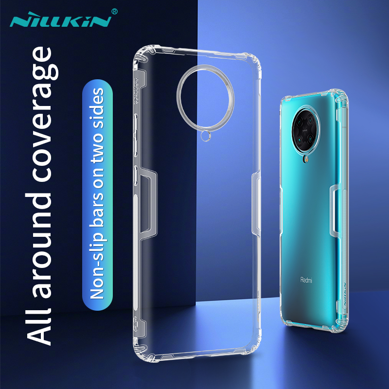 NILLKIN Nature TPU Shockproof Case för Xiaomi Redmi K30 PRO Transparent Clear Silicon Soft Cover Cover För Xiaomi Redmi K30 PRO