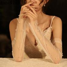Janevini элегантные женские свадебные длинные перчатки без пальцев