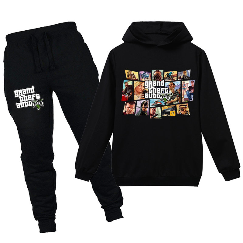 Комплект из 2 предметов для мальчиков, толстовка с V-образным вырезом и штаны
