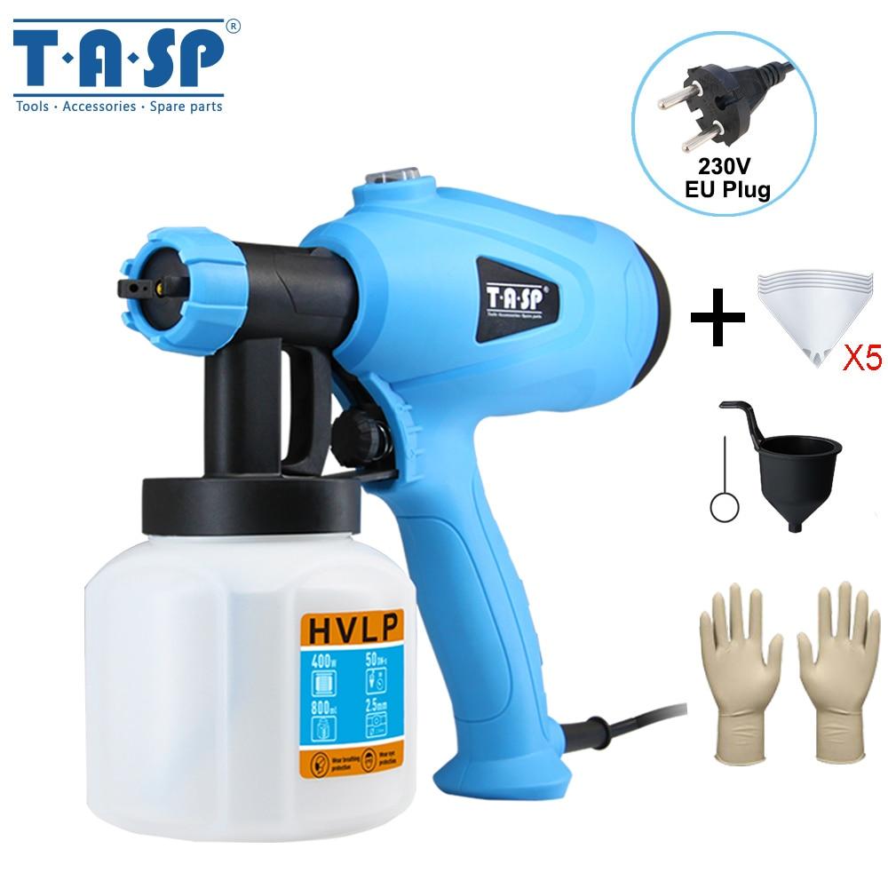 TASP 230 В 400 Вт Электрический краскопульт HVLP распылитель краски мощный инструмент для нанесения краски с регулируемым контролем потока для домашнего владельца