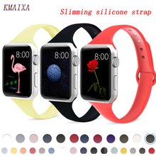 Strap for Apple Watch 4 Band 44mm 40mm iwatch band 42mm 38mm slim silicone correa pulseira apple watch 5 4 3 watchband bracelet цена и фото